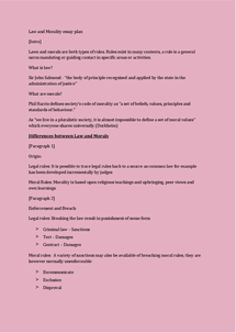 law and morals essay plan document in a level and ib law page 1 preview of page 1 law and morality essay plan