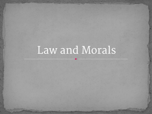 Preview of Law and MOrals - R v Brown and R v Wilson