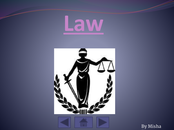 Preview of Law unit 1.
