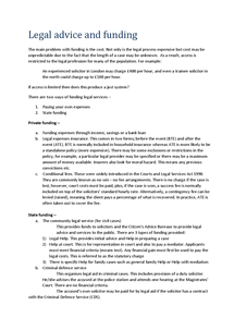 Preview of Law | Unit 1 | Section B - Legal Advice and Funding (AQA)