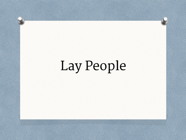Preview of Lay people