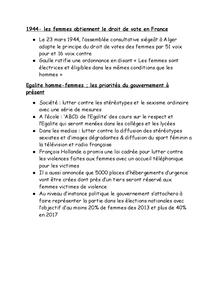 Preview of Le droit de vote pour les femmes en france