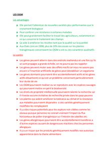 Preview of Le pour et le contre des OGM