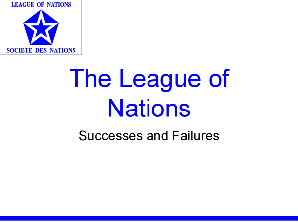 Preview of League of Nations