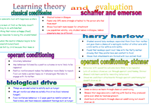 Preview of learning theory and evaluation