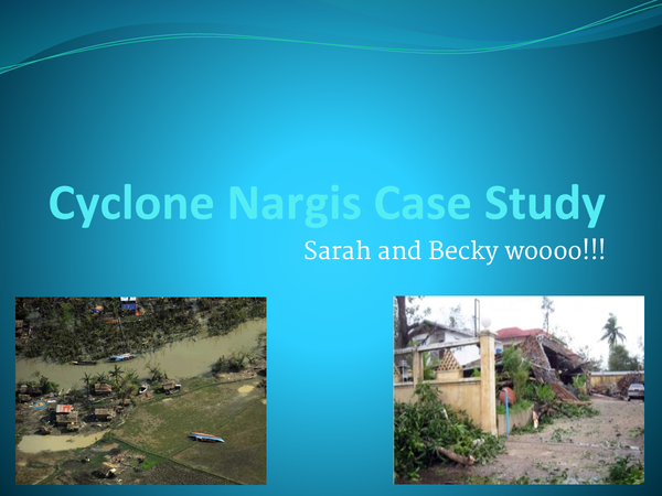 Preview of LEDC tropical storms case study- Nargis