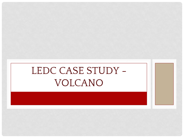 Preview of LEDC volcanic eruption
