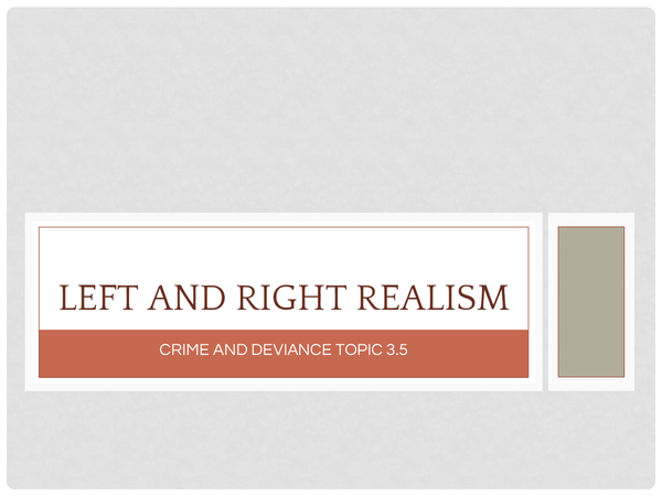 Preview of Left and Right Realism