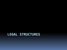 Preview of Legal structures