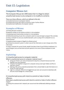 Preview of Legislation (CMA, DPA, CDPA)