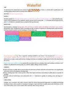 Preview of Legislation- Wakefield