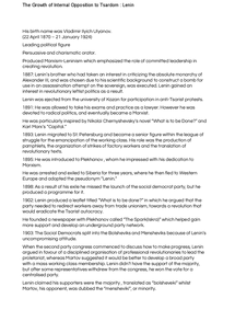 Preview of Lenin timeline