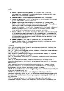 Preview of Lenin's Factfile