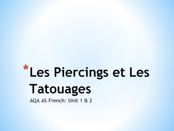 Preview of Les Piercings et Les Tatouages