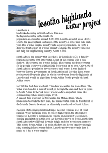 Preview of Lesotho Water Project