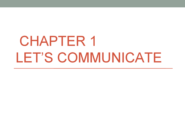 Preview of Let's Communication