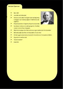 Preview of Liberalism Key Profile: Herbert Spencer