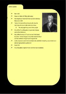 Preview of Liberalism Key Profile: John Locke