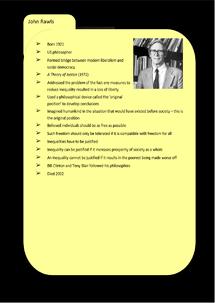 Preview of Liberalism Key Profile: John Rawls