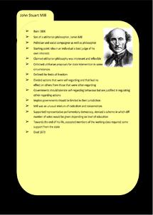 Preview of Liberalism Key Profile: John Stuart (J.S.) Mill