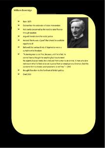 Preview of Liberalism Key Profile: William Beveridge
