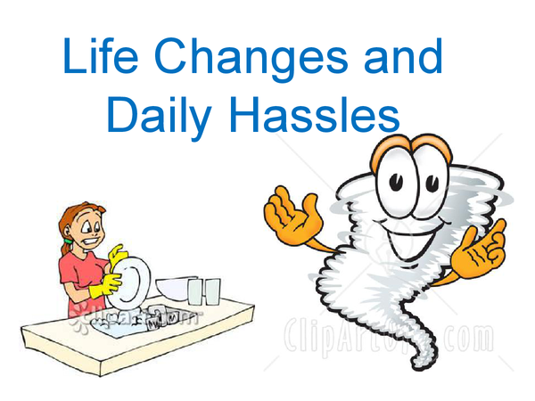 Preview of Life changes and daily hassels STRESS -UNIT TWO