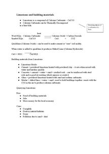 Preview of Limestone - AQA GCSE Core