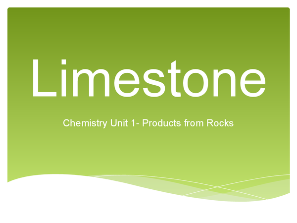 Preview of Limestone Unit 1