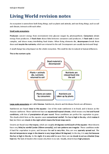 Preview of Living World (AQA GCSE Geography A) Revision Notes