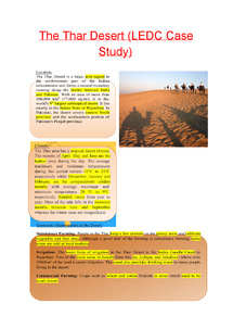 Preview of Living World - Thar Desert Case Study (LEDC)