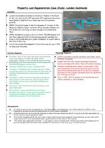 Preview of London Docklands Property-Led Regeneration