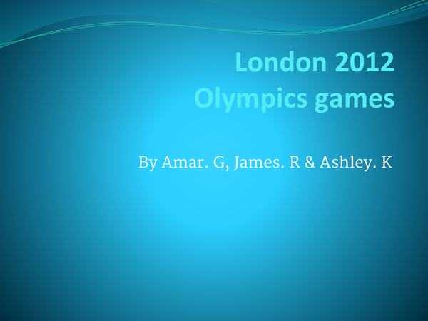 Preview of London 2012 Olympic
