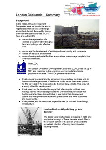 Preview of London Docklands Summary