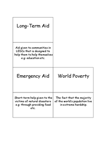 Preview of Long Term Aid & Short Term Aid