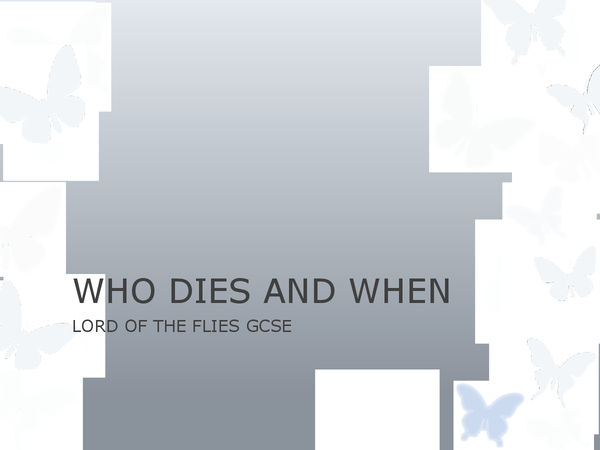 Preview of Lord of the Flies Deaths Powerpoint