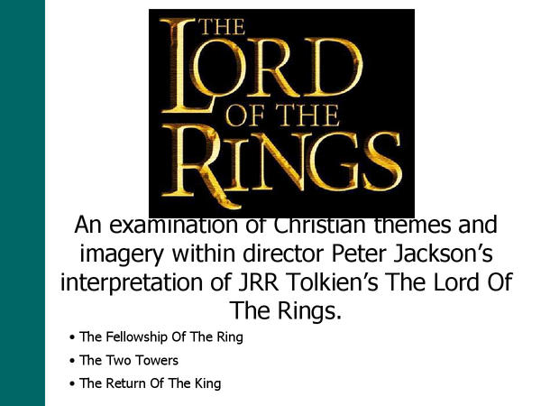 Preview of Lord of the rings