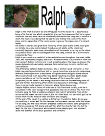 Preview of LOTF Character Profile: Ralph