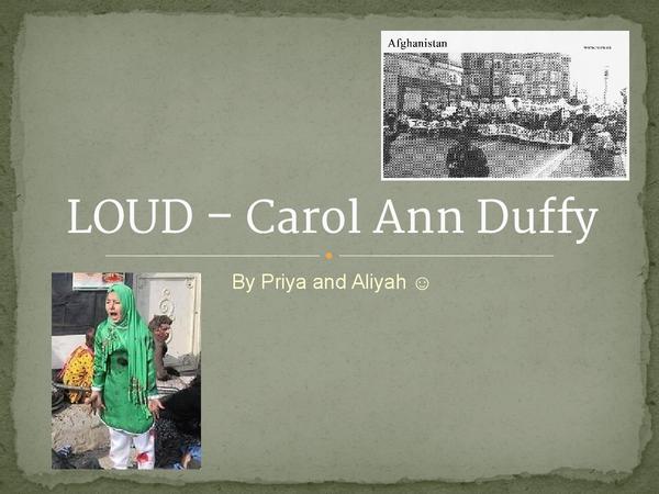 Preview of 'Loud' Poem Analysis - Carol Ann Duffy