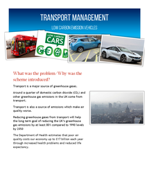 Preview of Low Carbon Emission Vehicles