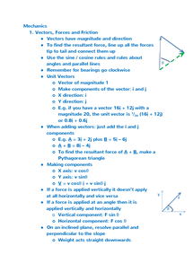 Preview of M1 OCR: Vectors, Forces and Friction