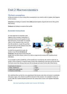Preview of (Macro) Economics Unit 2 Full Notes