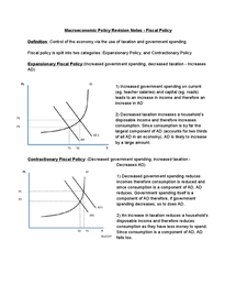 Preview of Macroeconomic Policy Revision - Fiscal Policy