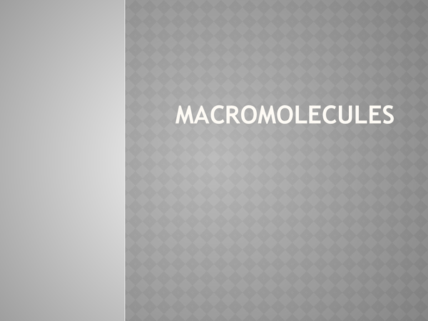 Preview of Macromolecules