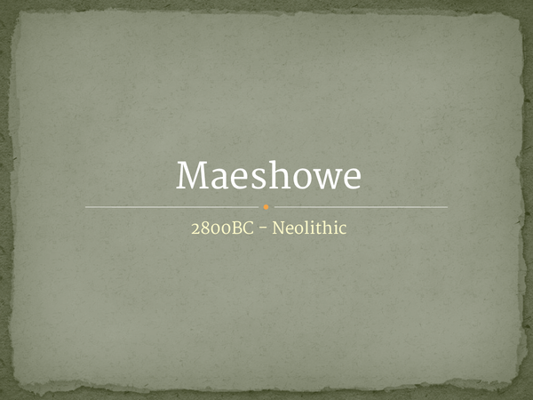 Preview of Maeshowe
