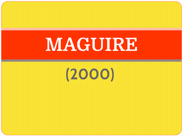 Preview of Maguire (2000) - AS Core Study
