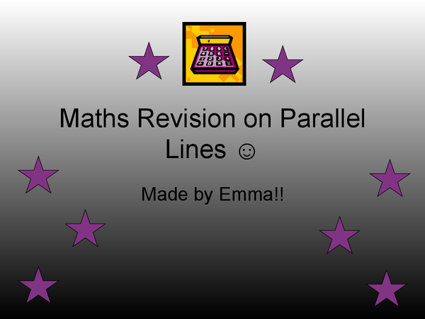 Preview of Make Revision Fun - MATHS PARALLEL LINES