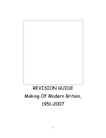 Preview of Making Modern Britain-Historian approved revision guide.