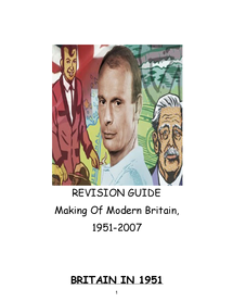 Preview of Making Of Modern Britain - Revision Guide.