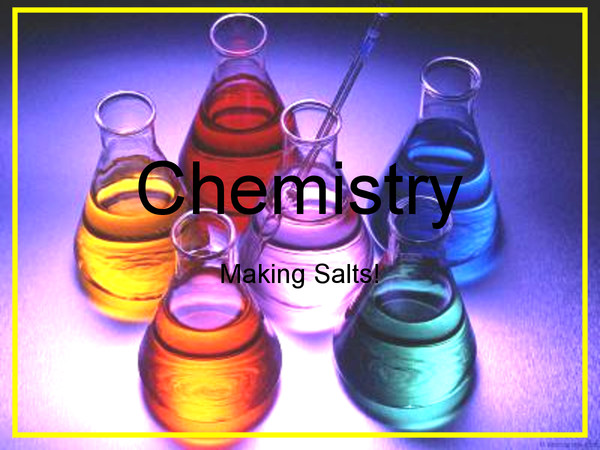 Preview of Making Salts