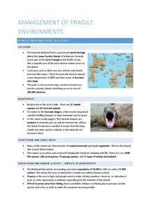 Preview of Management of Fragile Environments - The Komodo National Park